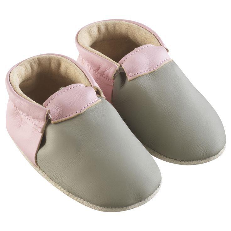 Taupe, Rose > http://www.tichoups.fr/chausson-cuir-souple-sans-motif/chaussons-bebe-cuir-souple-ticolo-taupe-rose.html