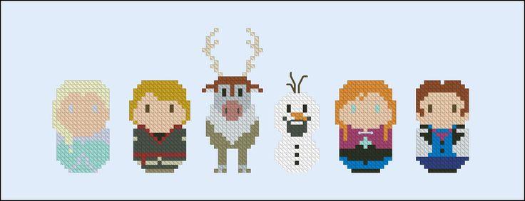 Frozen - Mini People - Pattern by CloudsFactory