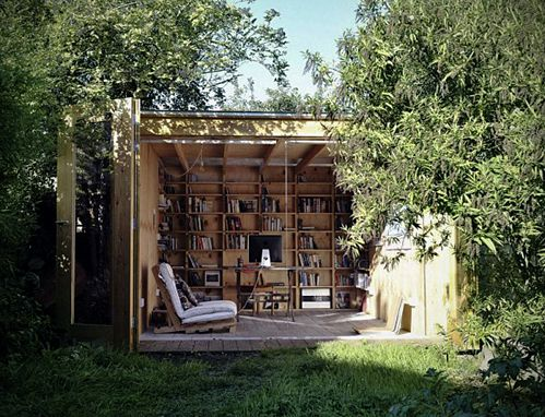 Tumblr: Spaces, Idea, Offices, Home Office, Outdoor, Book, Sheds, House, Garden