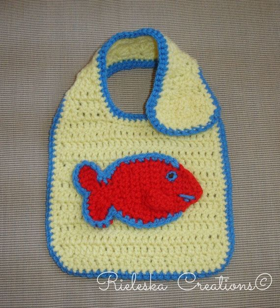 PDF Crochet pattern for baby bib  Price is for the PATTERN only, not the finished product.  There is no shipping charge for this item, as it is a PDF file