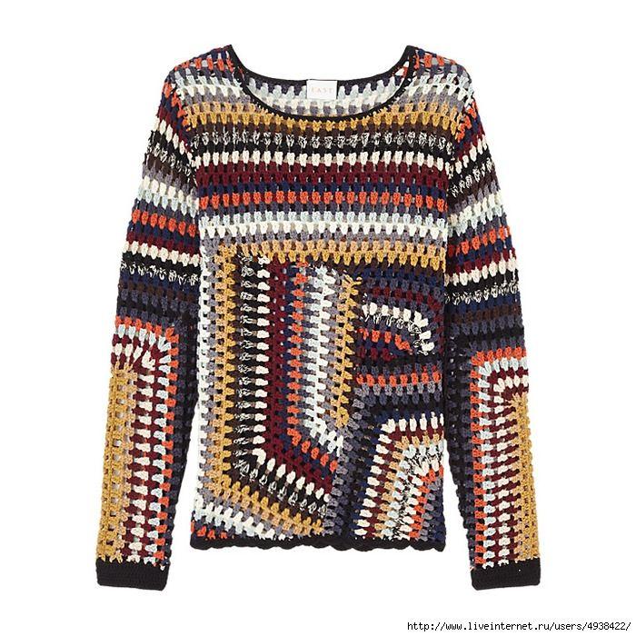Джемпер крючком. Hand Crochet Jumper.