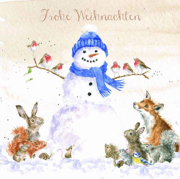 Wrendale Weihnachtskarte Gathered all around mit Umschlag