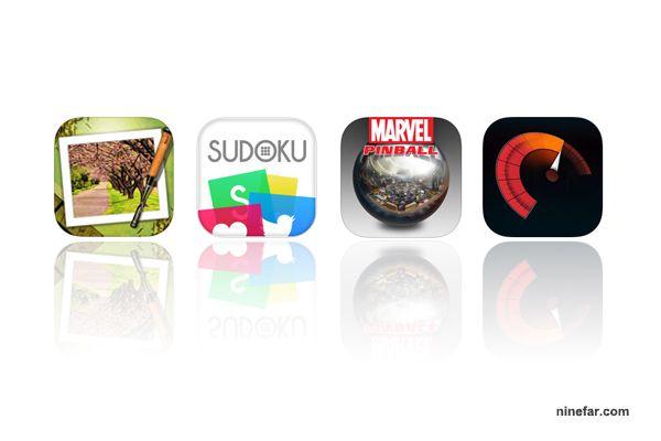 Apps iOS Free 20-12-59 : Moku Hanga, Sudoku Pro Edition, Marvel Pinball