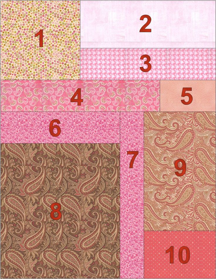 Quilt Back Diagram  How to make pieced backing.