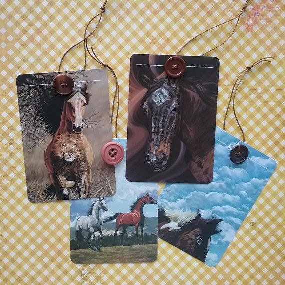 Horse Art Gift Tags Horse Bookmarks Horse Paintings Hang