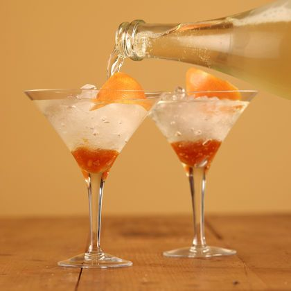 Sparkling Chardonnay Cocktail with Seville Marmalade - Maggie Beer