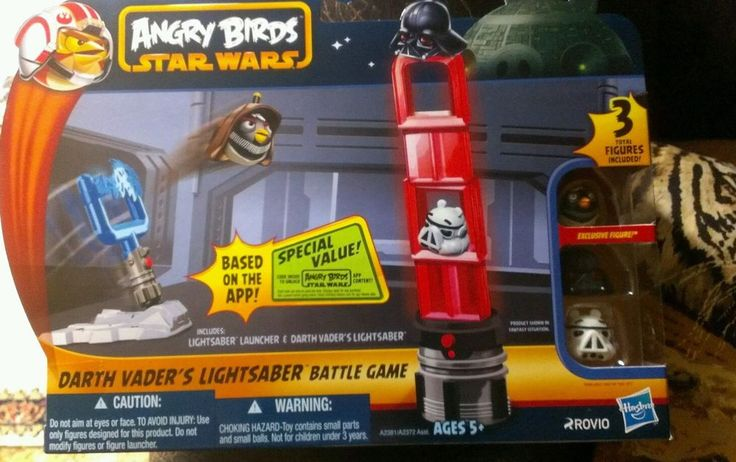 Star wars-Angry Birds Darth Vader's Lightsaber Battle Game Free Shipping! debpark94_attic AND tigerllc24 EBay ID's