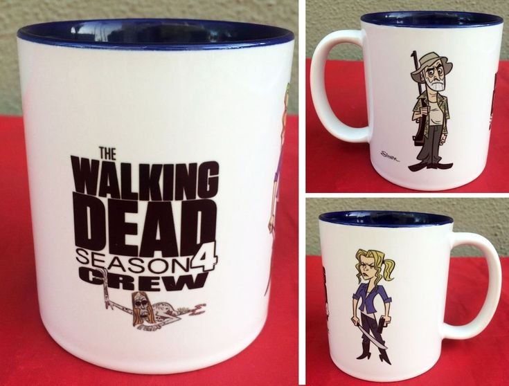 Rare! The Walking Dead Season 4 crew exclusive coffee mug with art by Stephen Silver   #TheWalkingDead #WalkingDead #TWD #StephenSiver