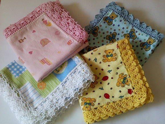 Manta em flanela para bebê M5 | CrocheMania | Elo7