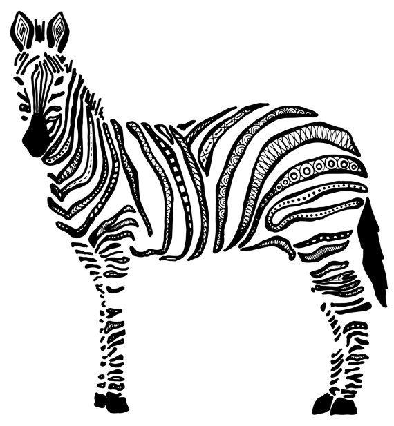 Elephant Zebra Art Print Set African by