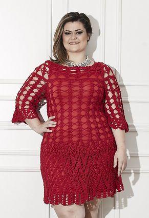 Plus Size - Vestido Vermelho: