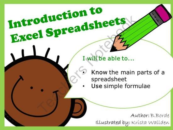 introduction to excel spreadsheets from computer ict lesson plans