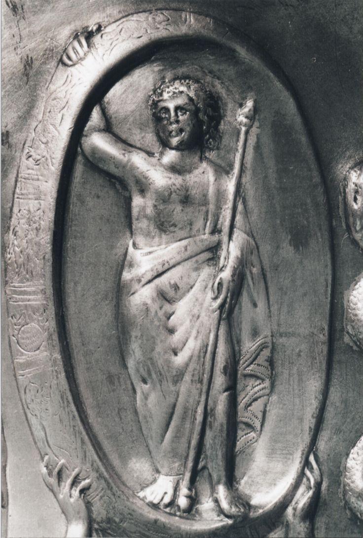 Museo Archeologico_Patera di Parabiago, particolare del piatto rinvenuto nel 1907 e risalente al IV secolo