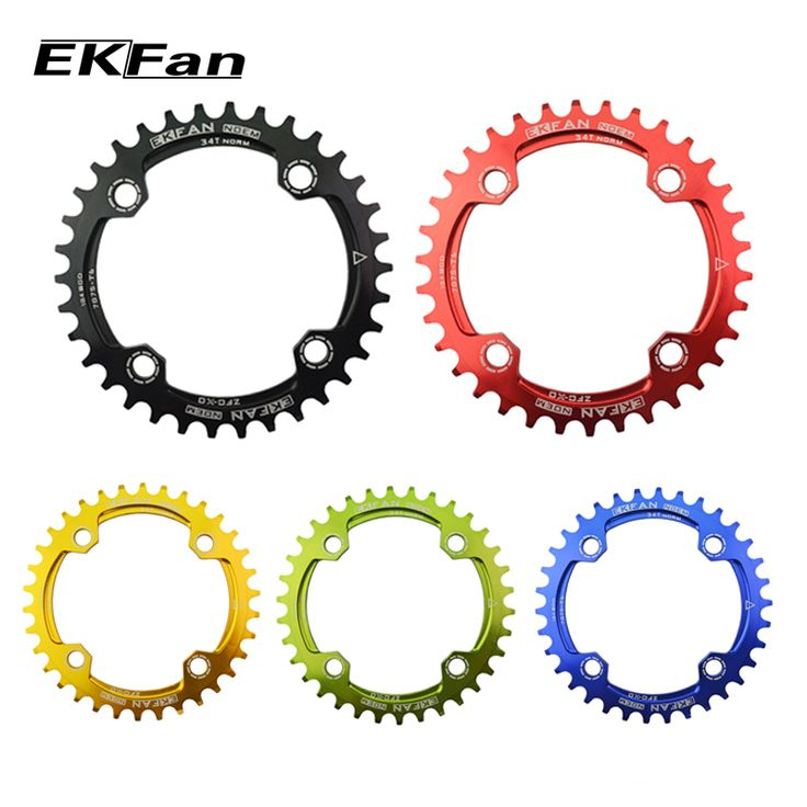EKFan Round Oval 104BCD 32T/34T/36T Cycling Chainring Narrow Wide Ultralight 7075-T6  MTB Bike Chainwheel Circle Crankset Plate //Price: $18.95 & FREE Shipping //     #hashtag3