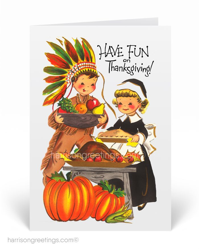 1950s Vintage Thanksgiving Greeting Cards