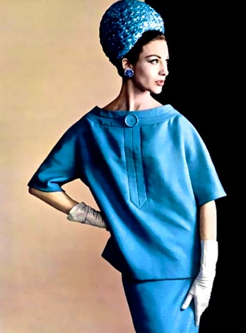 Blue suit by Christian Dior, 1960