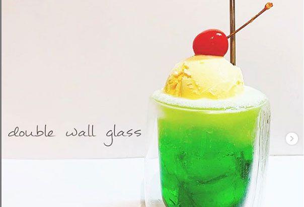 ダイソー ダブル ウォール グラス