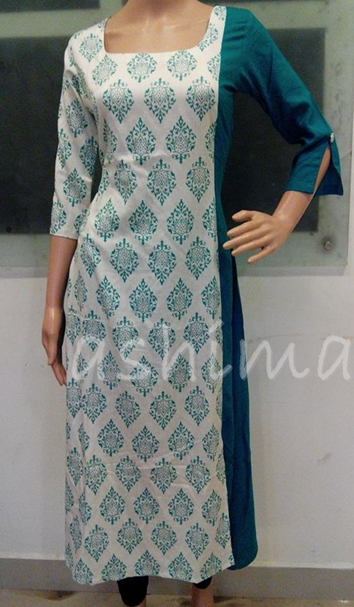 Code:0411169 - Printed Cotton Kurti,Price INR:1190/-