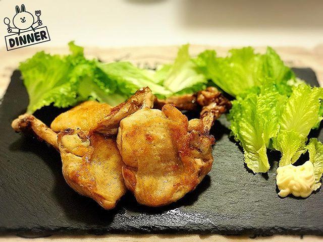日曜日に向けて昨日から3日間夕食は糖質抜き。 初日はチキンソテー。 #夕飯 #夕食 #晩ごはん #晩飯 #夜ごはん #ディナー #鶏肉 #チキン #チキンソテー #肉 #糖質制限 #マラソン #料理 #大阪マラソン #食事 #dinner #chicken #chickensatay #meat #carbohydrates #carbohydraterestriction #marathon #osakamarathon #cooking #satay