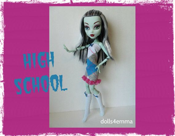 Monster High 17-inch Doll-kleding - kleding en sokken - handgemaakte aangepaste fashion door dolls4emma