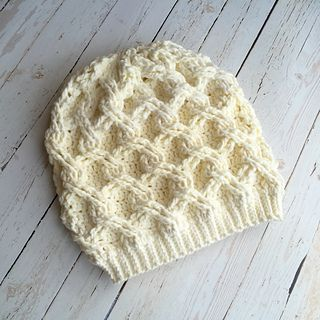 Chain Link Slouch Hat: crochet pattern for purchse