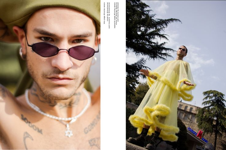 """Smagina Margarita shoots Nicolas Maxim Endlicher AKA Herren Scheide in an exclusive story for FGUK Magazine. """"Commandment #227"""" is creatively produced by Roman Gunt and styled by Sorokina Violetta using Georgian based designers ) SITUATIONIST, DALOOD, George Keburia and Lado Bokuchava. (Visited 75 times, 3 visits today)"""