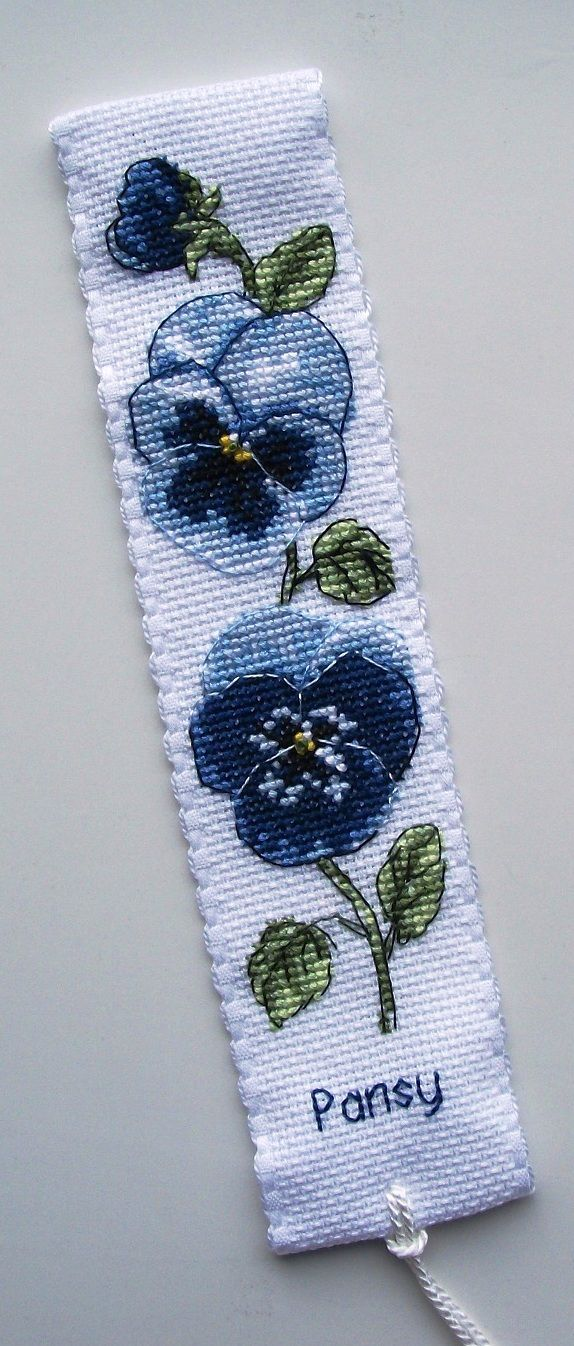 Anchor Pansy bookmark