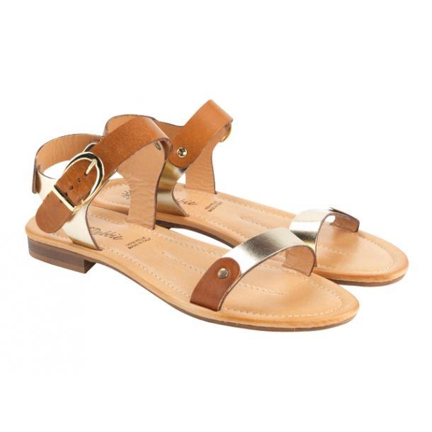 DEBBIE sp.platino/bruc sandal