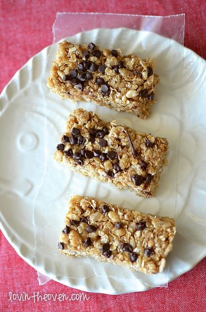 No- Bake Chocolate Chip Granola Bars | Food | Pinterest