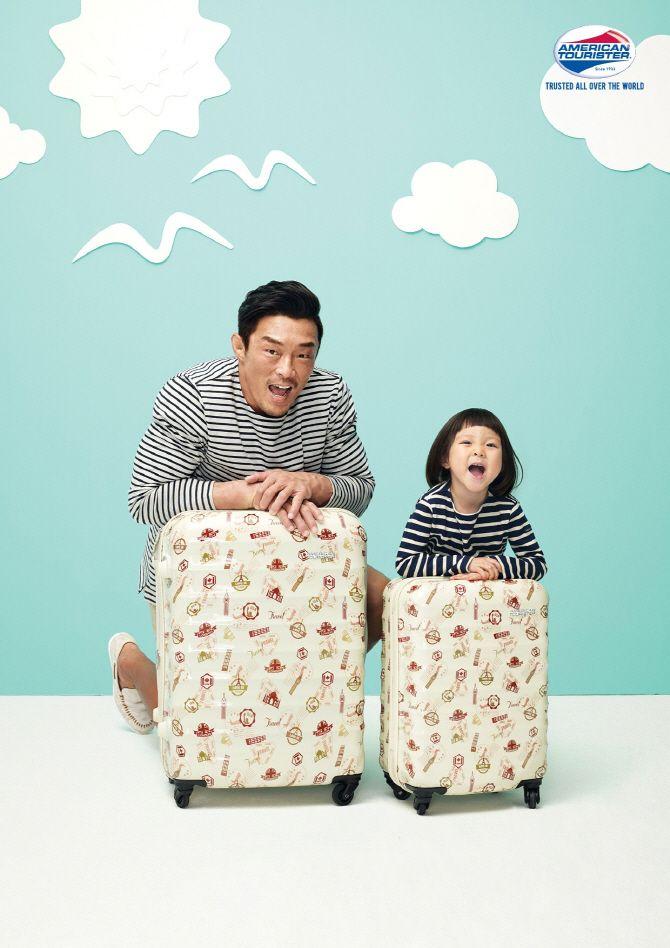 #ChuSarang and Chu Sung Hoon for American Tourister