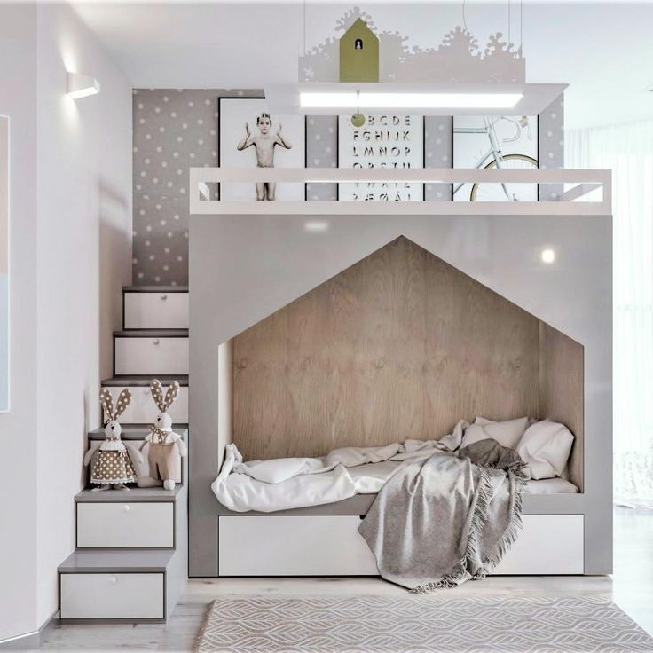 Modern nursery where the design of the bed makes the difference: 18 super inspiring ideas