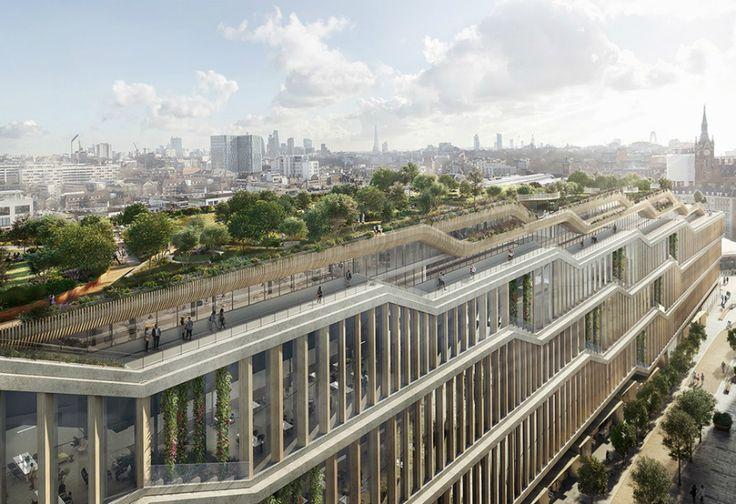 Intip Kantor Google di London yang Atap Gedungnya Ada Kebun