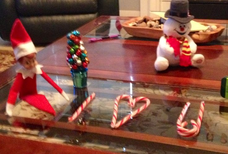 I love you from Elf on the Shelf