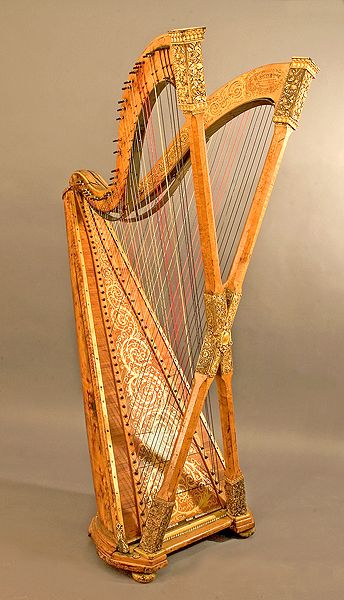 """Double chromatic harp by Henry Greenway, c1895. A.k.a. """"the Greenway monstrosity"""""""