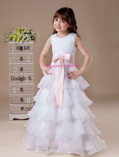 Vestidos De Niñas Para (comunion Cortejos Bautizos Fiestas)