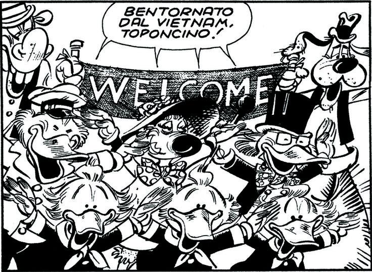 ITALIAN COMICS - La contestazione di Topolino reduce dal Vietnam 1