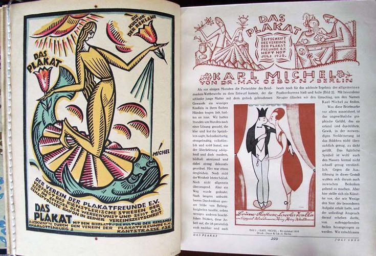 Das Plakat: Mitteilungen des Vereins der Plakatfreunde [The Poster: Report from the Friends of the Poster] (Berlin: Verlag Max Schildberger, 1910-1921). Graphic Arts has 1913, 1915, 1920