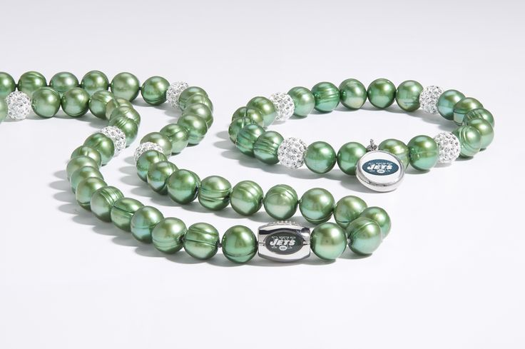 #HonoraPearls #PearlJewelry #PearlsThatGoWith #NFL #Jets