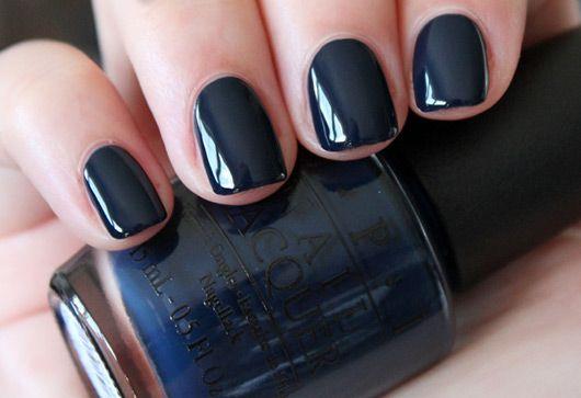 blue-black nails / OPI