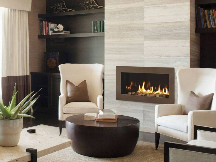 Image result for modern stone fireplaces