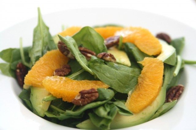 Orange, Avocado, and Spinach Salad with Citrus Vinaigrette