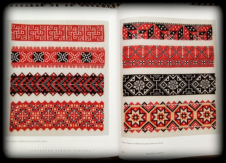 Slovak embroidery - patterns from head pieces