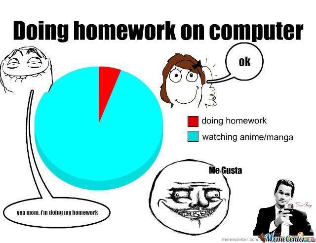 Image Result For Homework Memes Anime Memes Funny Homework Meme Anime Funny