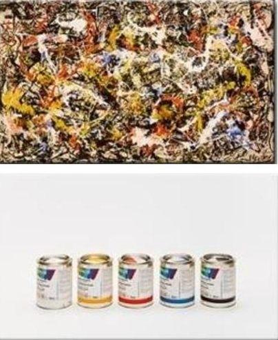 Ursus Wehrli, Tidying Up Art. Jackson Pollock http://www.linja.com/blog/information-architecture-meet-ursus-wehrli/