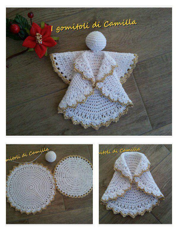 Christmas Angel Ornament Free Crochet Pattern
