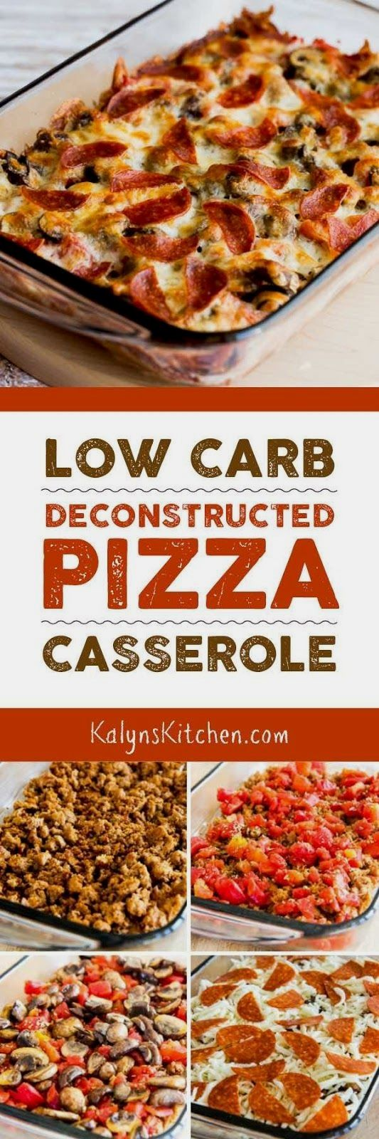 Let's start the year out right with this Low-Carb (and Gluten-Free) Deconstructed Pizza Casserole! This recipe is low-carb, Keto, low-glycemic, and gluten-free; use the Diet-Type Index to find more…MoreMore