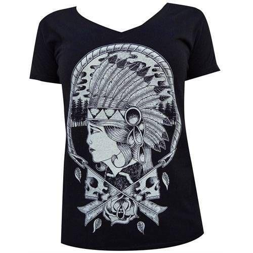 Apache By Adi Women S Black Shirt Tattoo Art Native