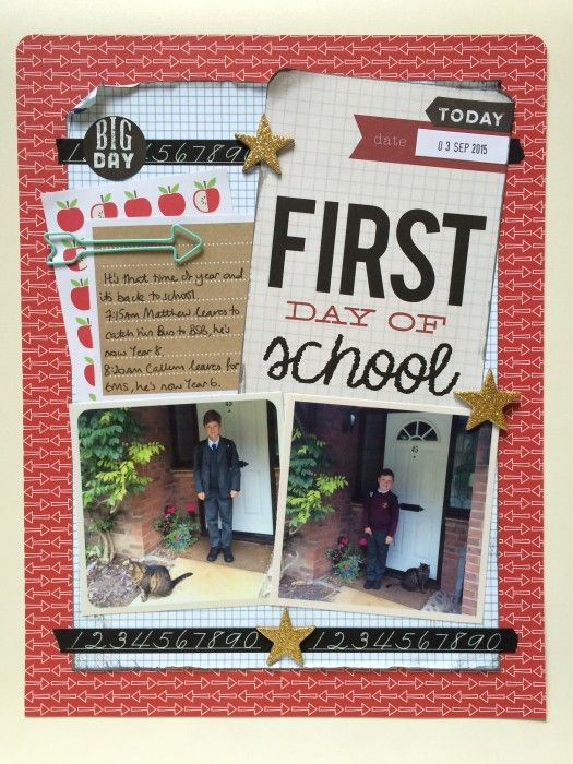 First Day of School layout