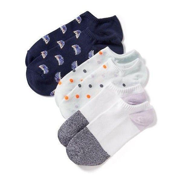 Old Navy Womens Liner Socks 3 Pack ($4) ❤ liked on Polyvore featuring intimates, hosiery, socks, hedgehog, patterned socks, old navy, print socks, old navy socks and patterned hosiery