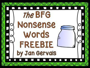 Why would you want to use nonsense words from The BFG to provide decoding practice? Why wouldnt you?  Students love The BFG.  Plus, the words are just fun to say!This FREEBIE includes the following:alphabetical order sheetsyllable sort (24 cards and recording sheet)speed read activity (spinner and word lists sheet)Common Core State Standards Addressed:CCSS.ELA-Literacy.RF.2.3c Decode regularly spelled two-syllable words with long vowels.CCSS.ELA-Literacy.RF.3.3c Decode multisyllable…